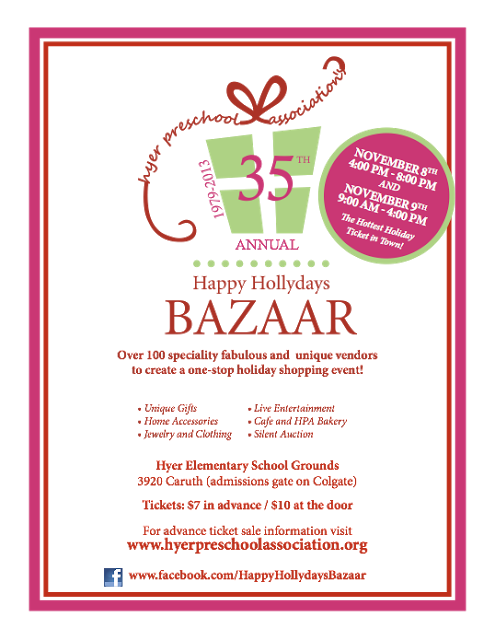 holiday bazaar flyers