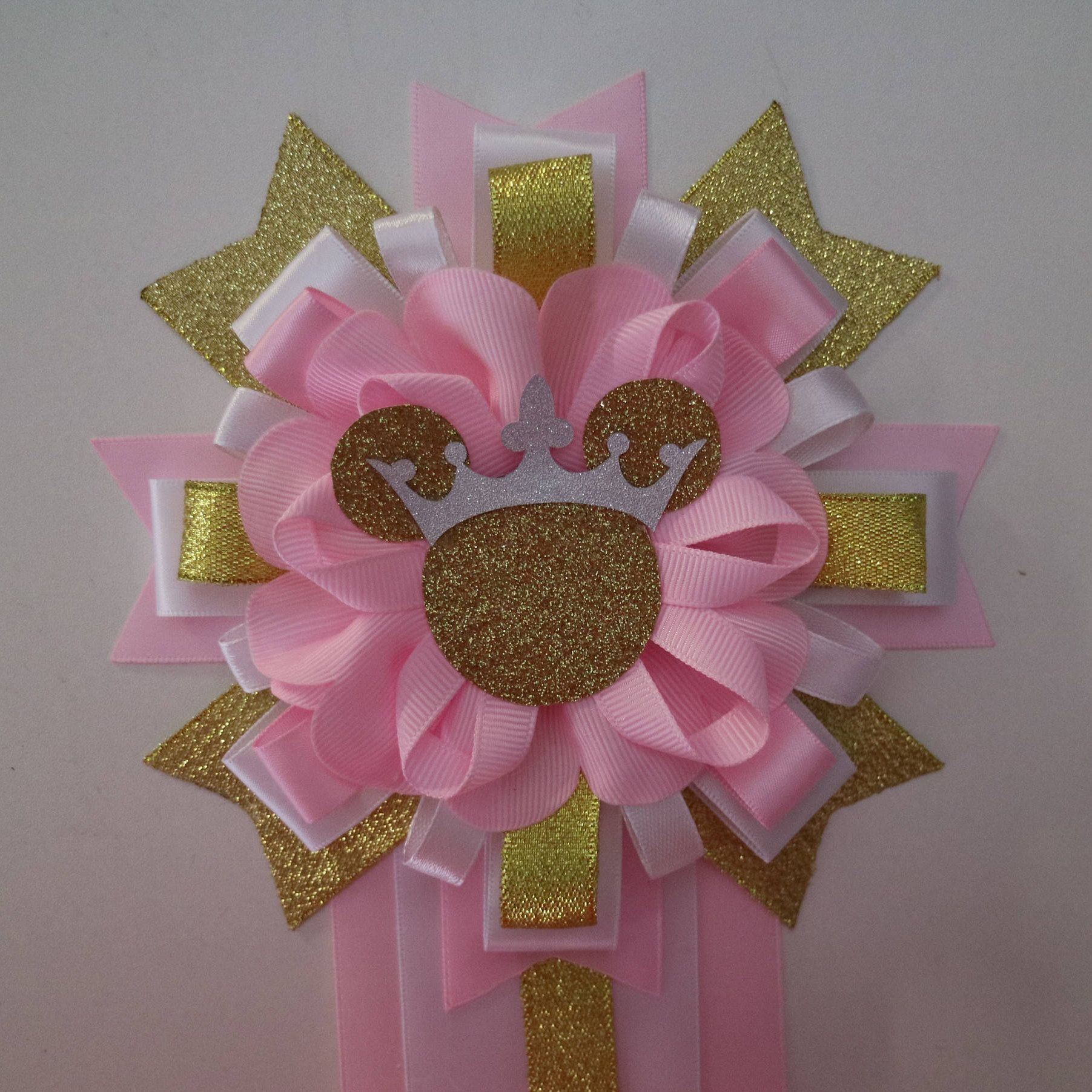 Minnie Mouse Pink Gold Baby Shower Mommy To Be Corsage By Yeseniacouture On Etsy Pink Gold Baby Shower Gold Baby Showers Minnie Mouse Pink
