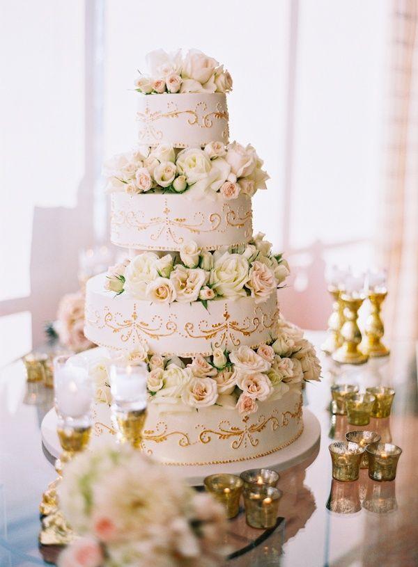 Romantisch Gold Hochzeitstorte Wedding Hochzeitstorte Elegante