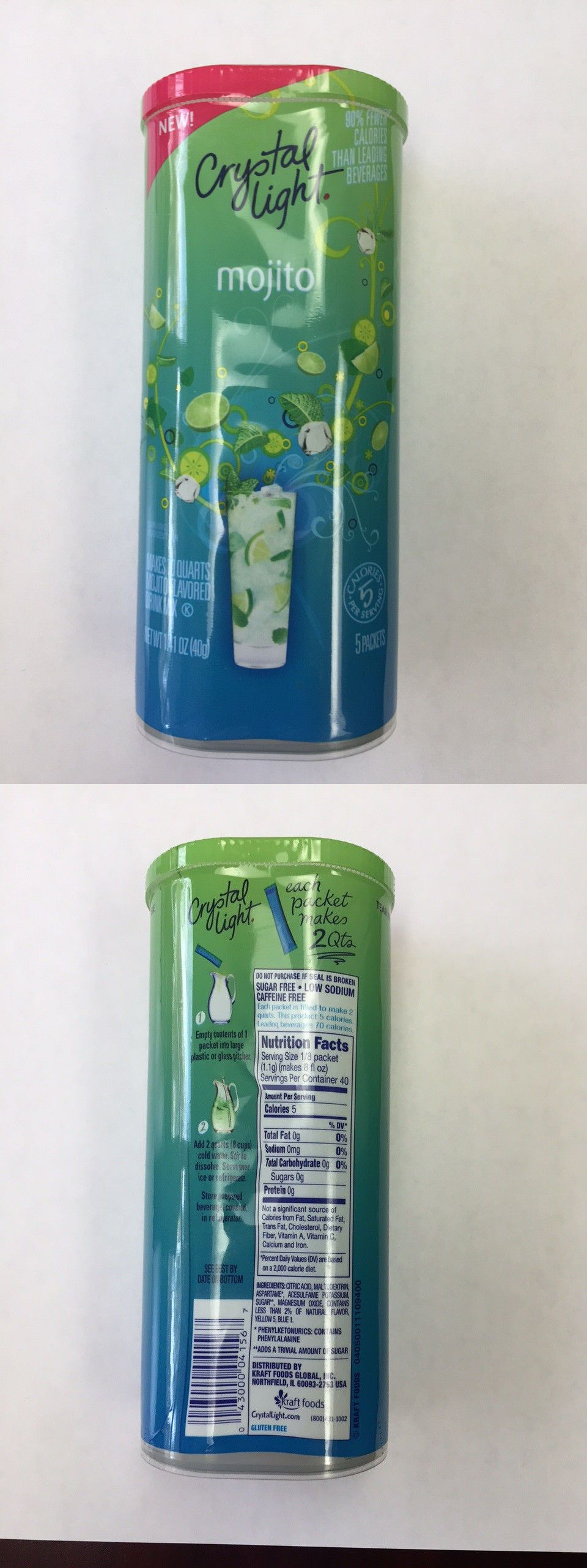 Drink Mixes 179192 Crystal Light Sugar Free Mojito Mix 5 Packs Makes 10 Qts Discontinued Sealed Buy It Now Only 49 99 Mixed Drinks Mocktail Drinks Mojito