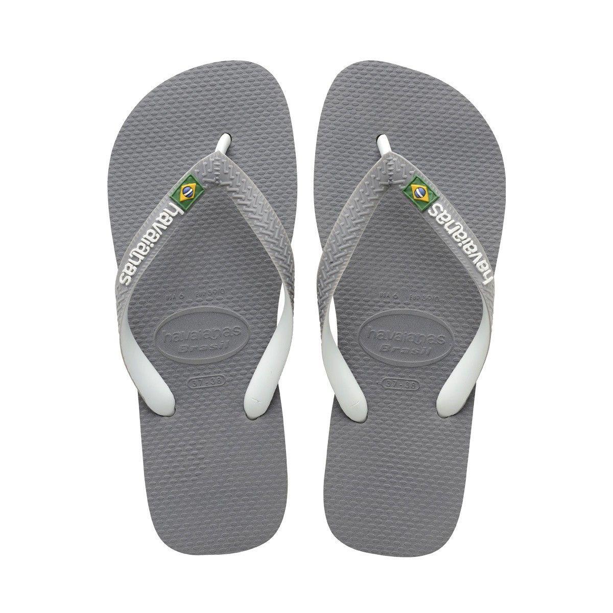 HAVAIANAS BRAZIL MIX SANDAL STEEL GREY/WHITE/WHITE. #havaianas #shoes #