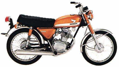 Honda Cb 100 My First Motorcycle Ever Mine Was Blue And White