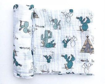 Swaddling And Receiving Blankets Swaddle Blanket  Etsy De  Family  Pinterest  Cacti Muslin