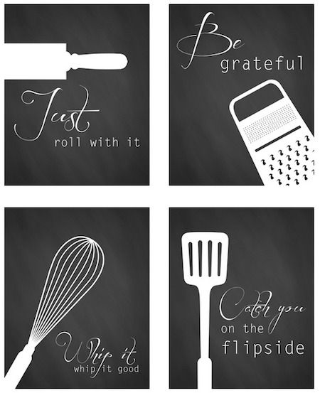 Roundup: 22 Free Kitchen Wall Art Printables