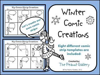 christmas comic strip template  Winter Comic Creations (Comic Strip Template Set) | Comic ...