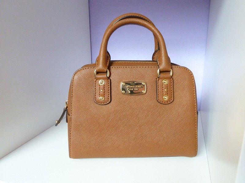 4e7e4aec0485d Michael Kors Mini Satchel Luggage Cognac Gold Neu