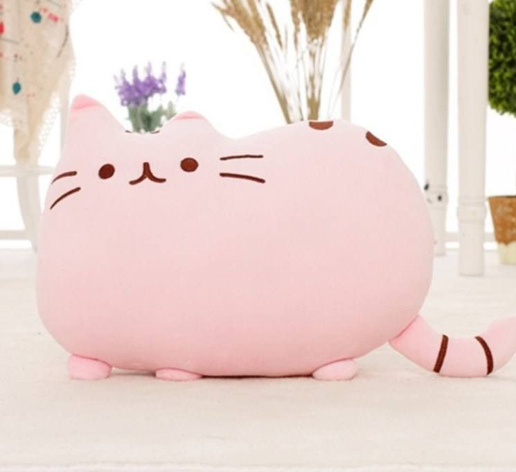 Creative Throw Pillow Super Soft Stuffed Yellow Cat Doll with A Bag Mini Kitty Dolls for Kids,Teens