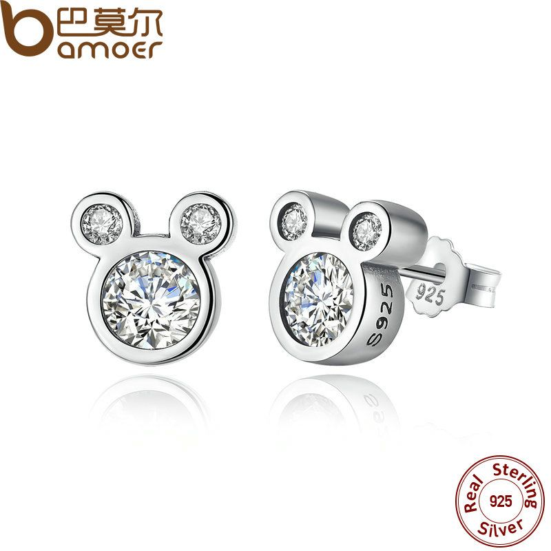 76ca266db Cheap earrings factory, Buy Quality earring black directly from China  earrings antique Suppliers: BAMOER Popular 925 Sterling Silver Dazzling  Miky Mouse ...