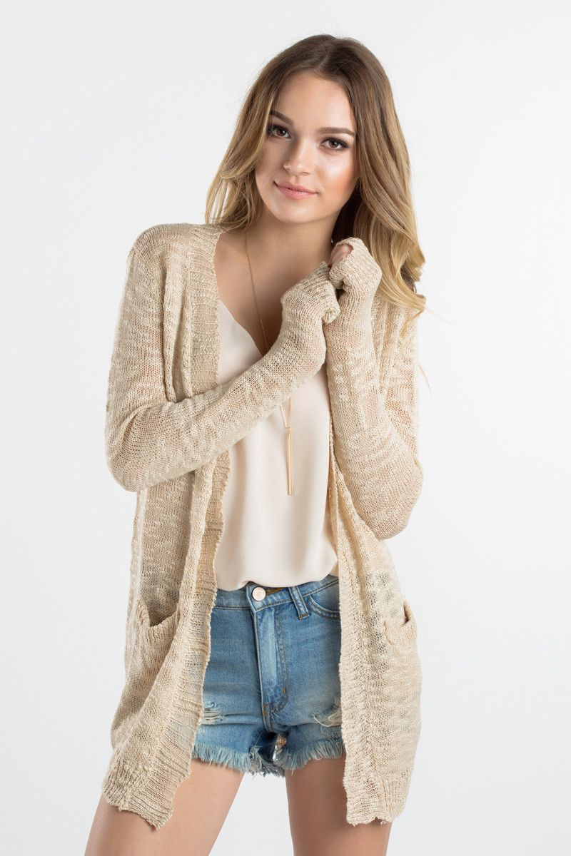 Cream Knit Cardigan 50283464c