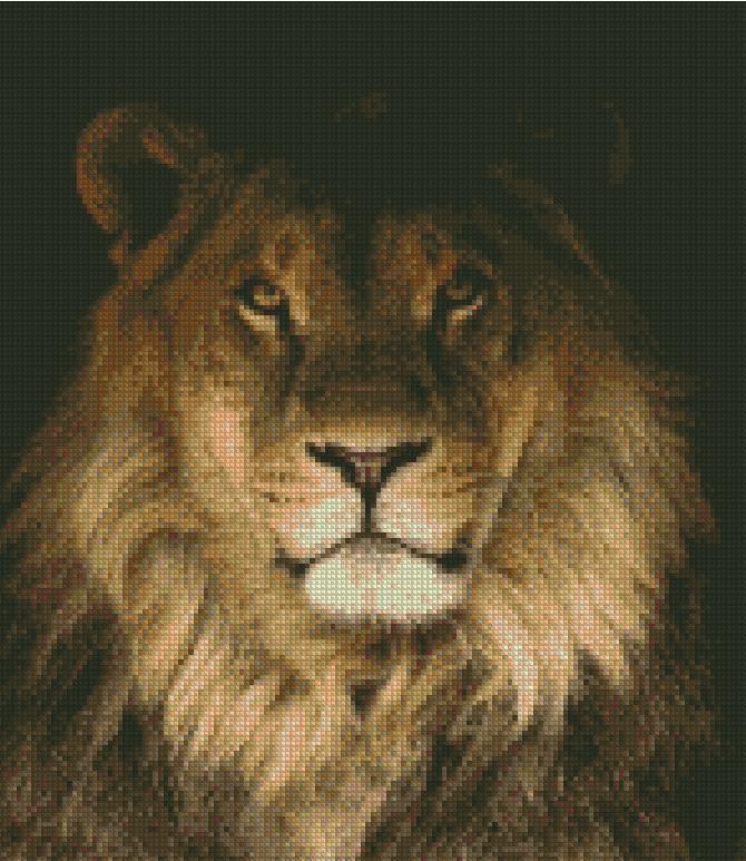 Бесплатная схема вышивки крестом львы