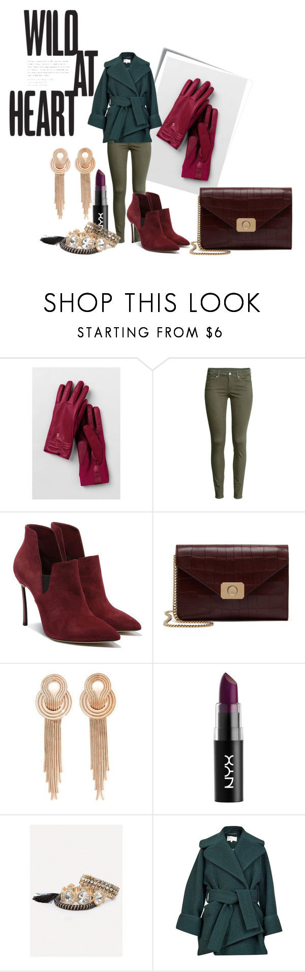 """Untitled #2542"" by mariaisabel701 ❤ liked on Polyvore featuring Post-It, Lands' End, H&M, Casadei, Mulberry, Lara Bohinc, Bebe and Carven"