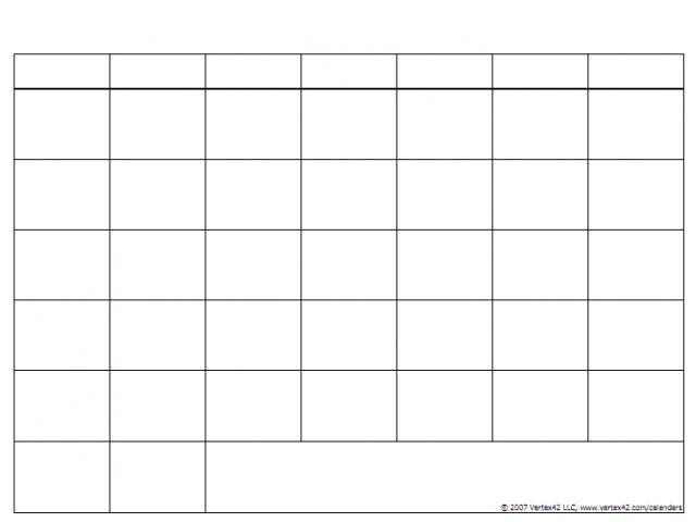 Blank Calendar Grids Printable … (With Images) Blank Calendar