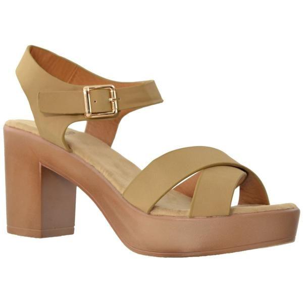 1c83db3927d Taupe Chunky Heel  sandals fashion women springfashion