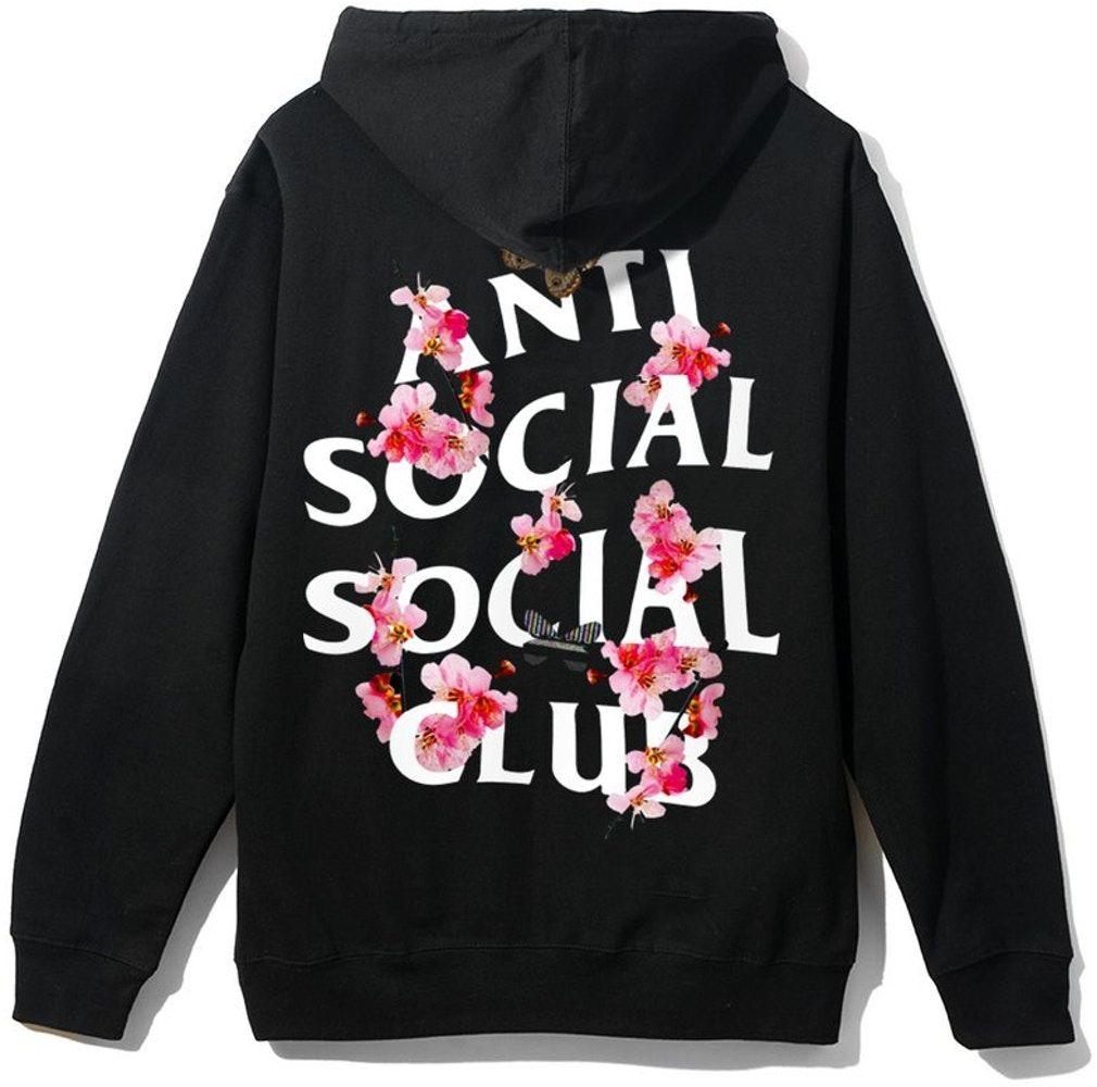 Anti Social Social Club Kkoch Hoodie Black In 2021 Sweatshirt Street Style Hoodies Aesthetic Shirts [ 1000 x 1010 Pixel ]