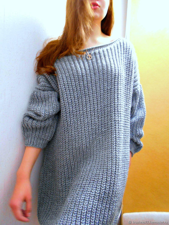 7c5b9c48919 Свитер туника вязаная женская свитера вязаные женский спицами ...