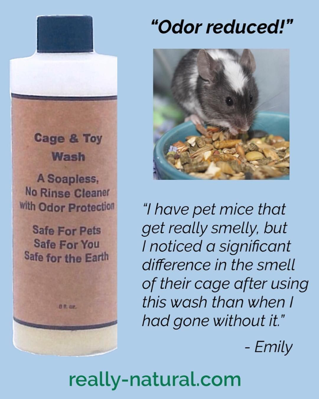 Healthier Easier Cleaning That Protects Pet Cages Food Bowls Toys From Smelly Odors Our Pets Sometimes Make Unscented Natural Pet Pet Cage Pet Mice