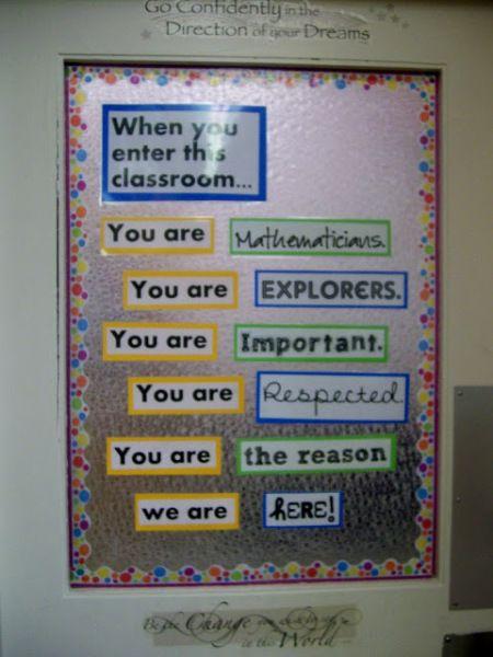 Classroom Door Decoration Ideas Math Classroom Decorations