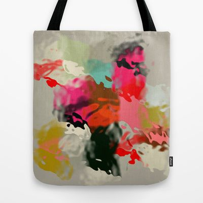 Abstract & fluid shapes Tote Bag by Lena Weiss - $22.00