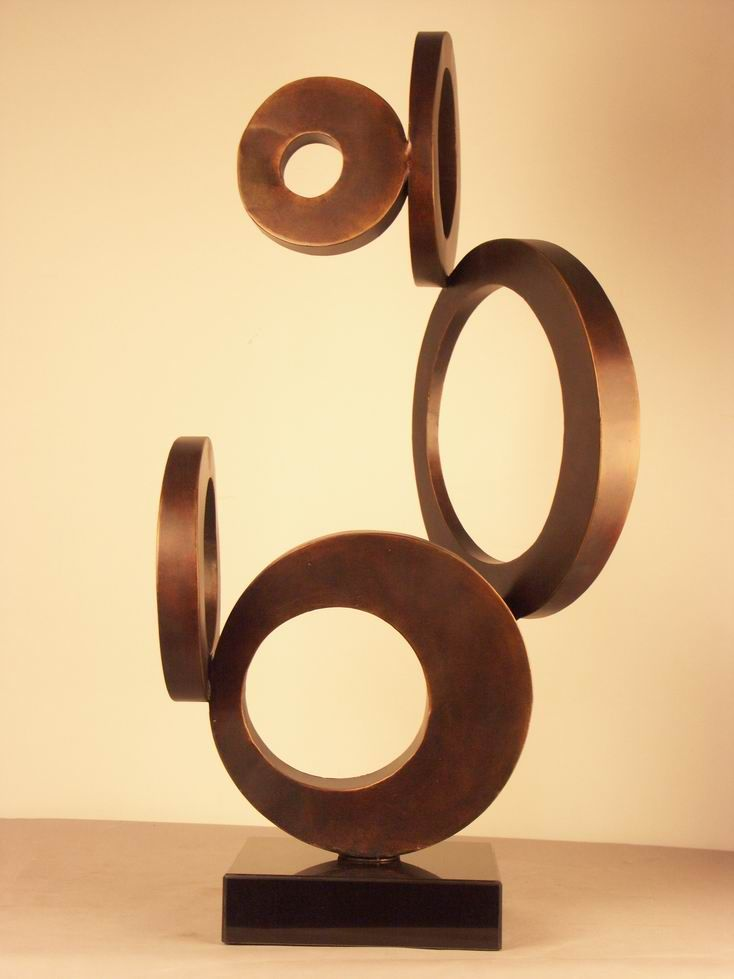 Abstract Iron Sculpture, Modern Metal Sculpture in Copper Shades (IA ...