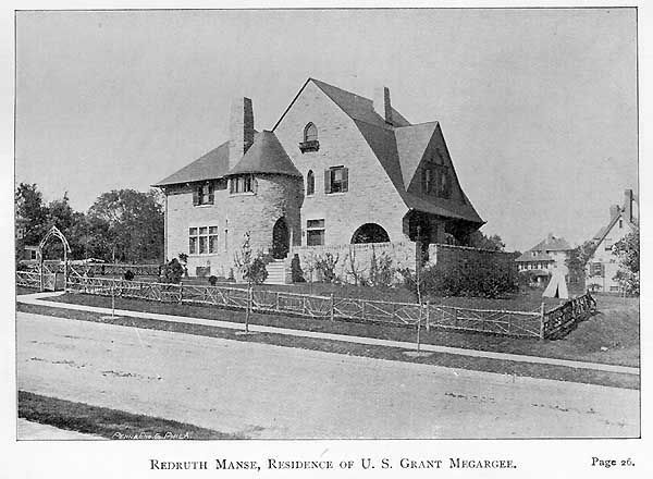 Philadelphia Overbrook Farms Redruth Manse Residence Of U S Grant Megargee P 26 U S Grant Megargee S Place Is Called Redruth Slate Roof Building Roof