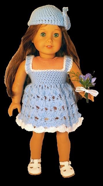 """Ravelry: American Girl or 18"""" Doll Summer Dress Crochet Pattern pattern by Danielle Bonacquisti"""
