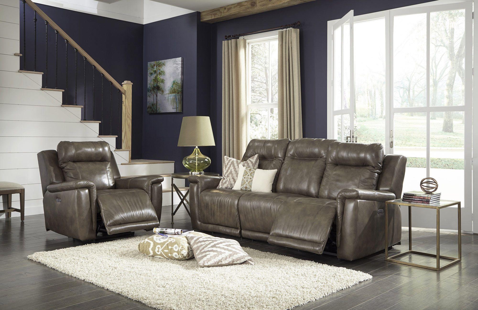 riley power reclining sofa with power headrest palliser furniture