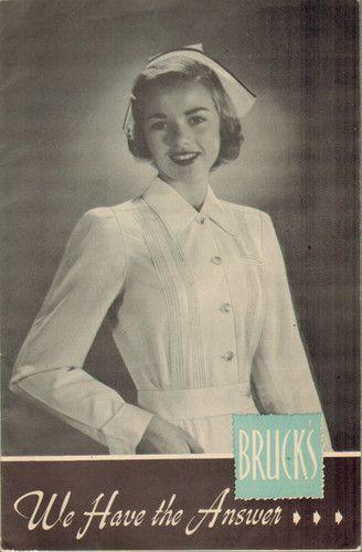 Bruck's Nurse Uniform Catalog Vintage Fashion NYC