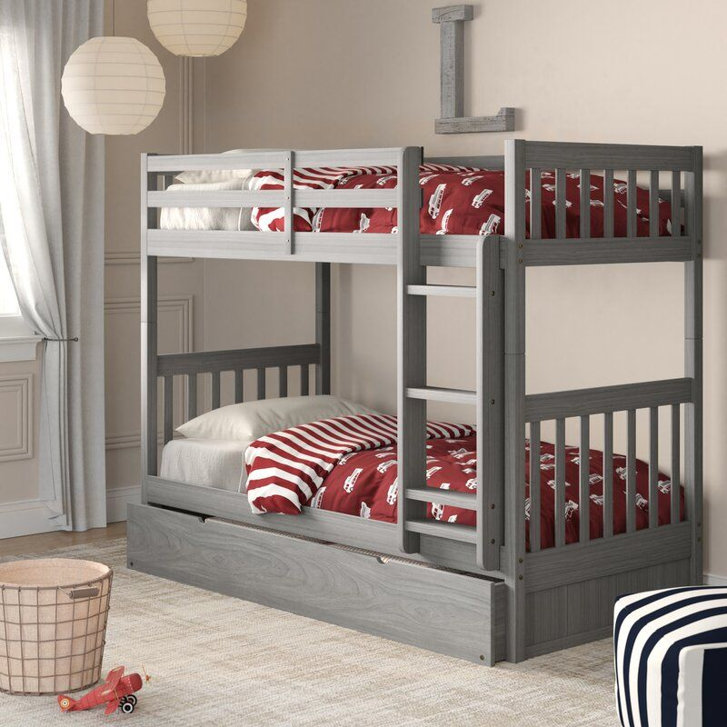 Best Birch Lane™ Heritage Willett Twin Over Twin Bunk Bed With 640 x 480