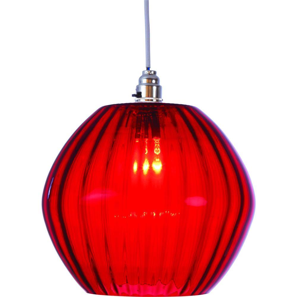 Marni Glass Pendant Red At Wilko.com