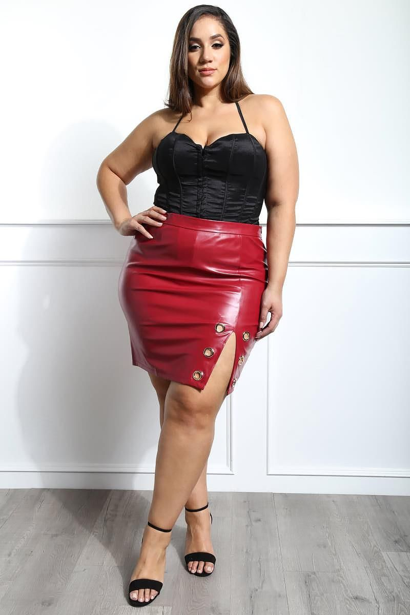 16dc98684385 Detail View 6 : FEELING NUMB PLUS SIZE MINI SKIRT | All Dressed Up ...