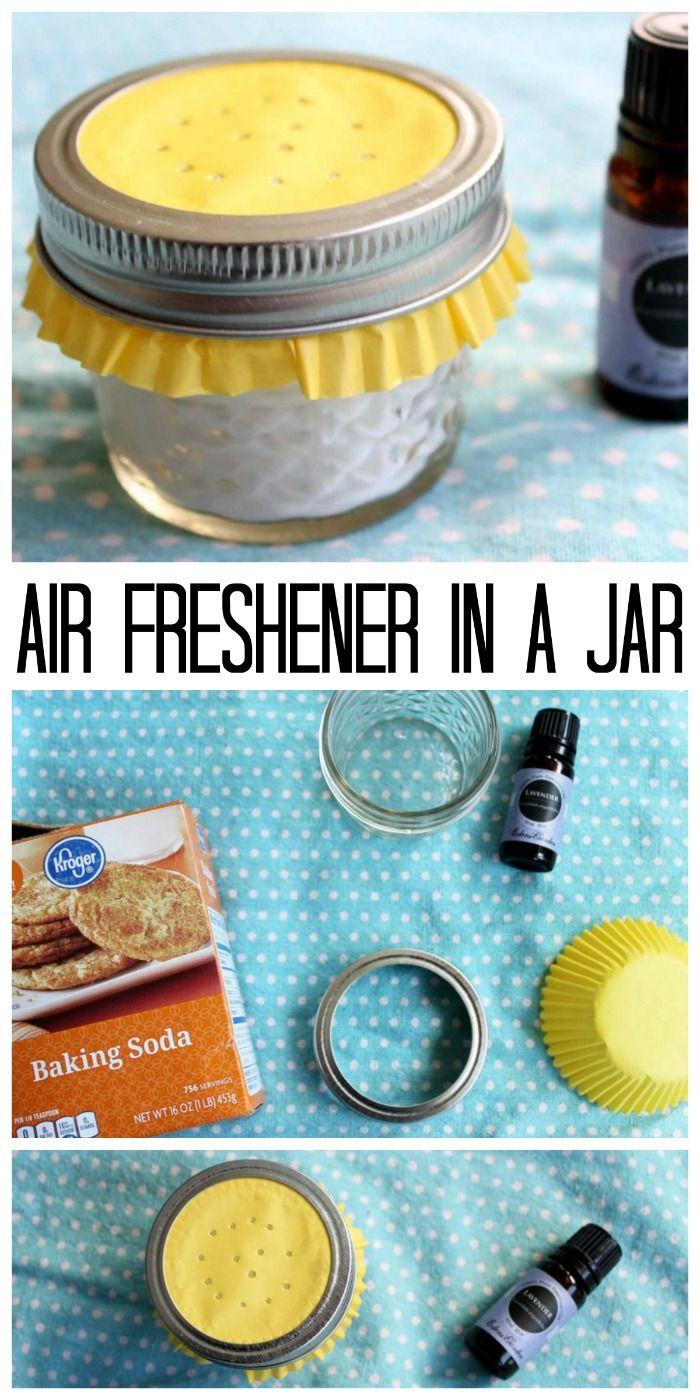 Essential Oil Air Freshener in a Jar Homemade air
