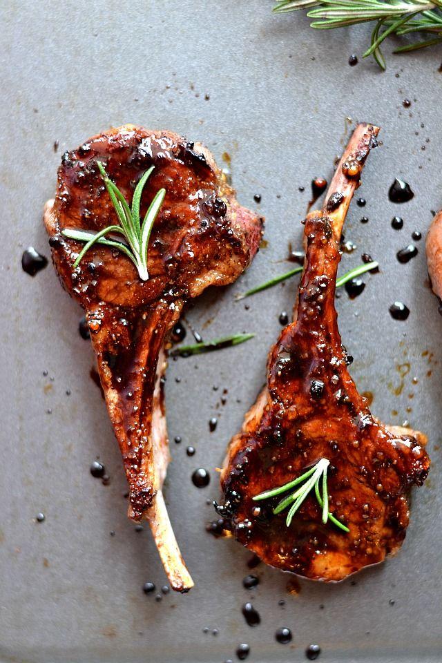 lamb chop recipe honey Honey Balsamic Lamb Chops for Two  Rezept  Lammkarree  Lamm