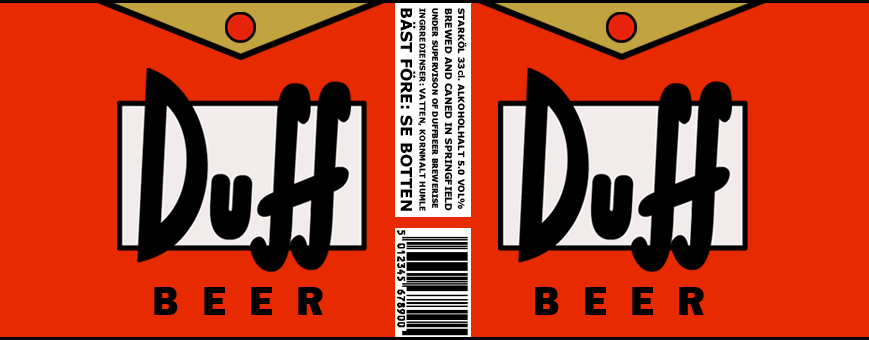 Duff Beer Labels Print And Put On Any Cans Or Even