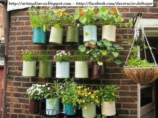 Ideas para decorar un jard n vertical by artesydisenos - Placas para decorar paredes ...