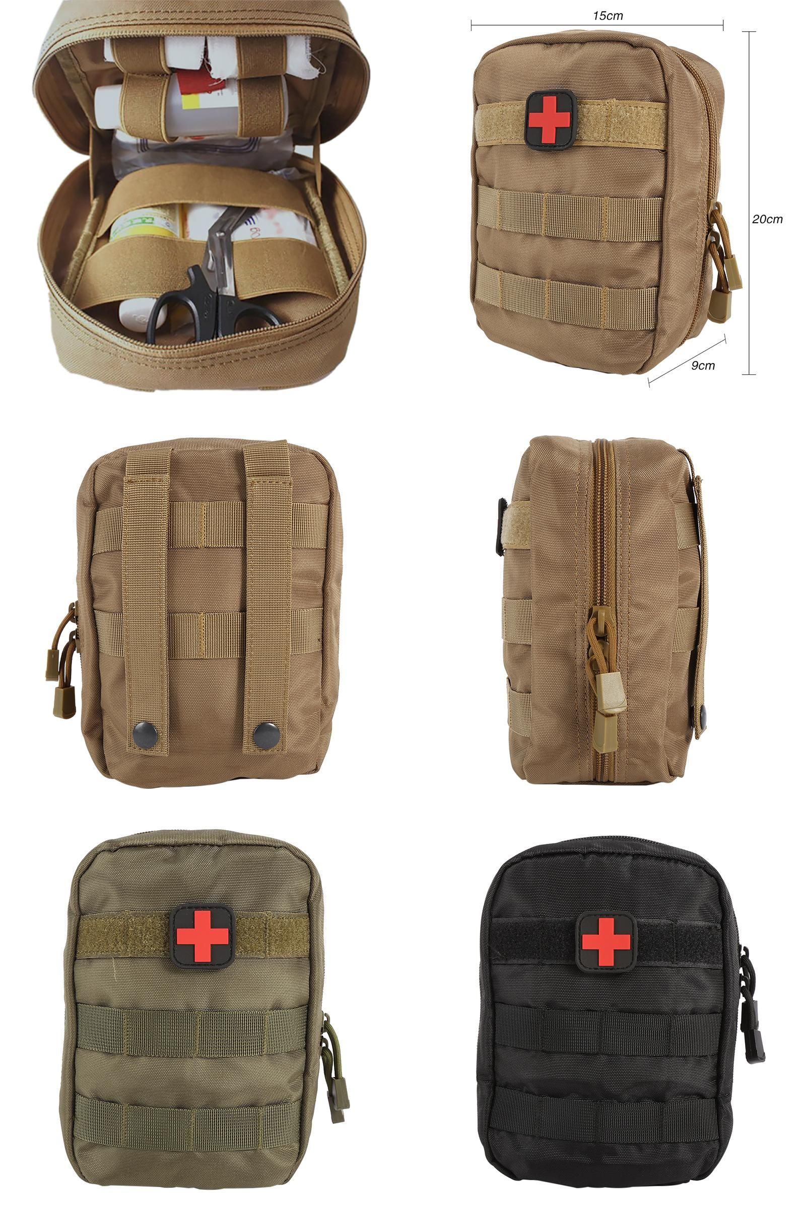 fdfcf1b6e80248 [Visit to Buy] Outdoor MOLLE System Medical Accessory Bag Tactical EMT  Medical First Aid IFAK Bag Military Pack Black/Army Green/Mud color  #Advertisement