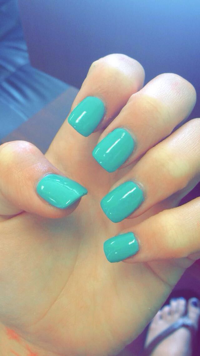 Teal Nails 40 Teal Color Nail Designs You Will Fall In Love Teal Nails Teal Nail Designs Teal Acrylic Nails