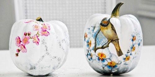 DIY Funky Decoupage Pumpkins