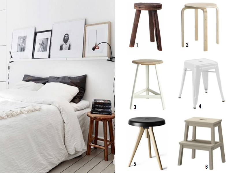 STOOL BEDSIDE TABLE in 2019 | Interieurs & Home Decor | Bedside ...