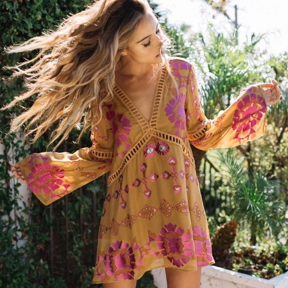 For Love And Lemons Barcelona Mini Dress Fashion Boho Fashion Dresses
