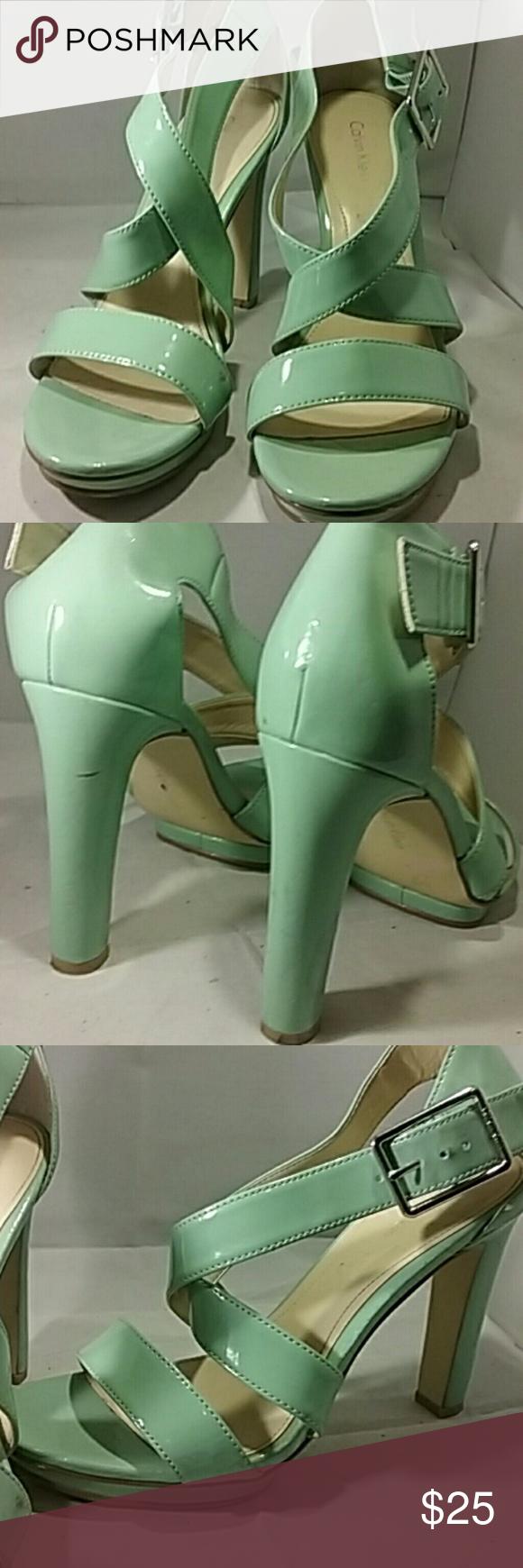 Calvin Klein Mint Green Heels | Vintage