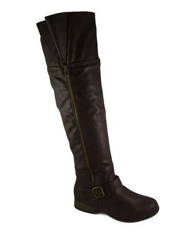 Brown tall legend boot