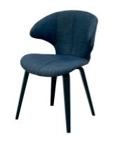 Saxo mørkeblå spisebordsstol