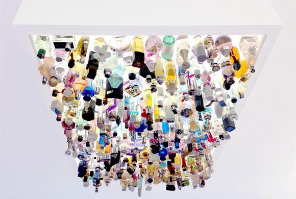 Fun custom sculptural lighting. Perfumery Stephan by Dittel