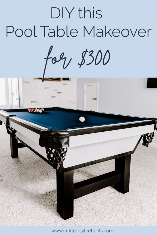 DIY Pool Table Makeover - Crafted by the Hunts DIY and ...