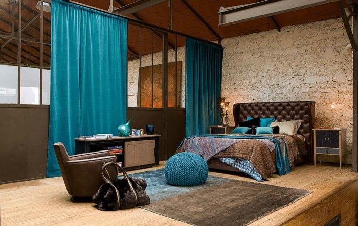 Beautiful Chambre Turquoise Et Marron Images - Matkin.info ...