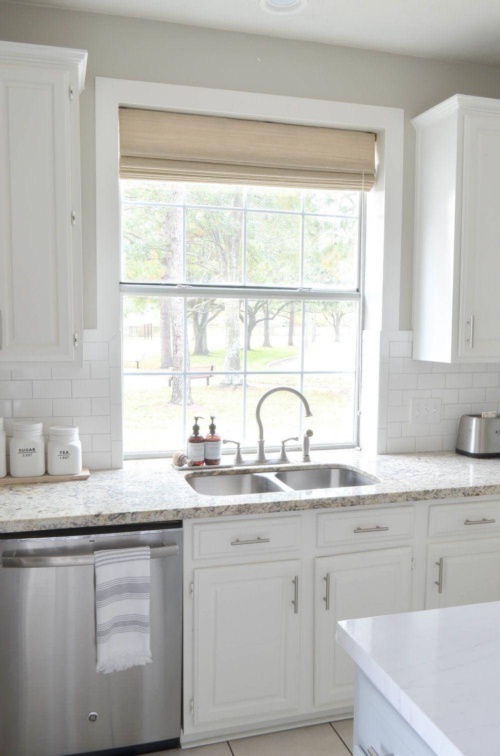 Adding Farmhouse Charm Framing a Kitchen Window Kitchen