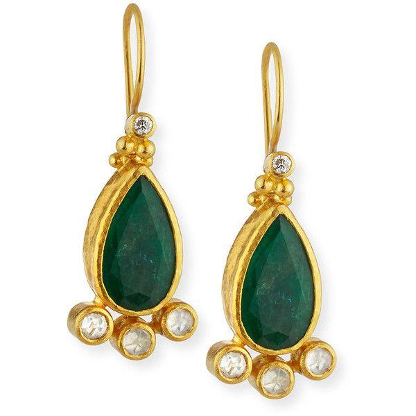 Gurhan 24k Emerald Teardrop Earrings Dkvqrj8C4K