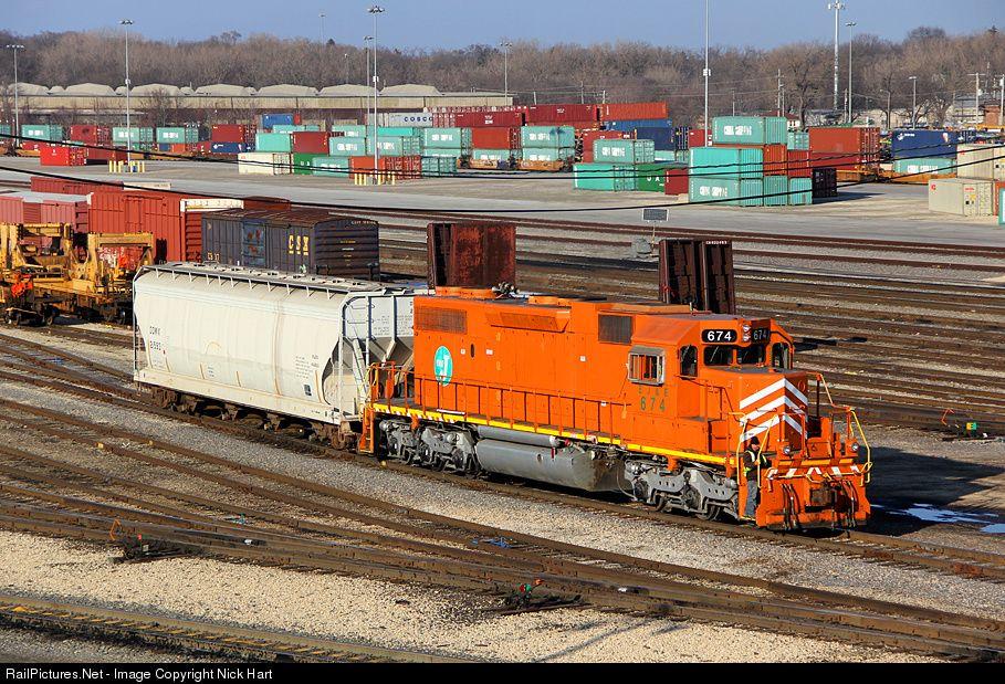 EJE 674 Elgin, Joliet & Eastern Railway EMD SD382 at