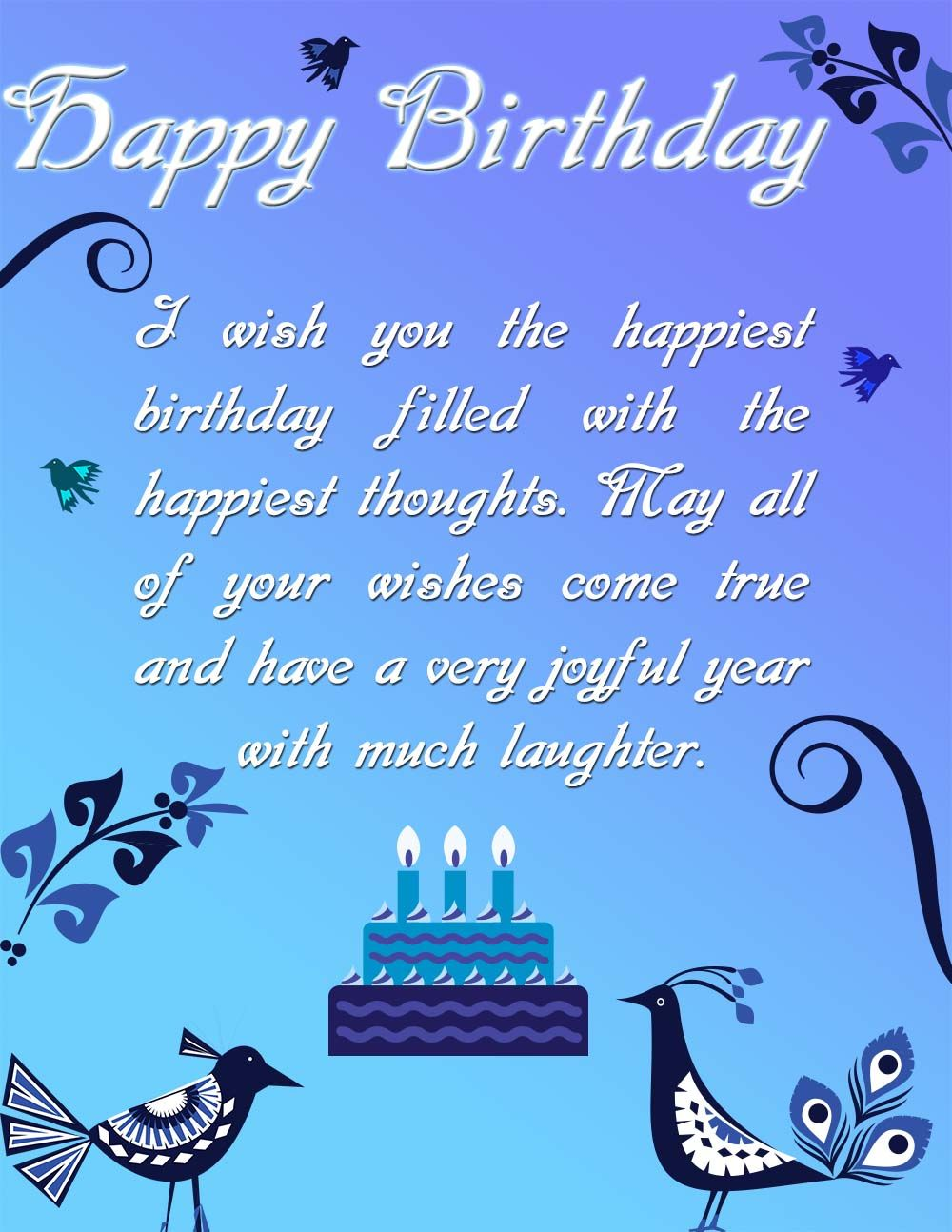 Beautiful happy birthday ecard Happy Birthday Ecards – Send E Birthday Card