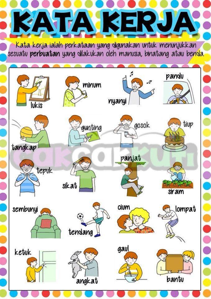 P1004 Poster Kata Kerja Cak Cak Kuti Educational Supplies